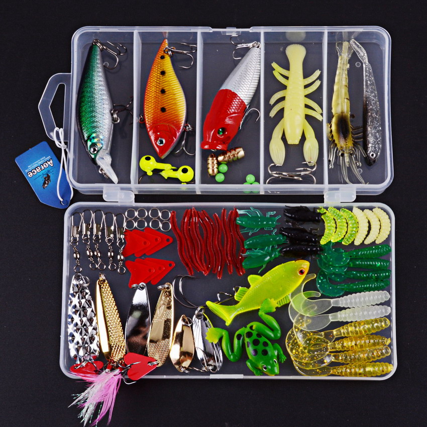 New 4 Style Multi Fishing Lure Mixed Colors Plastic Metal Bait Soft Lure Kit Fishing Tackle Wobbler Spoon pesca iscas artificias fishing lure kit metal lure soft bait plastic lure wobbler frog lure free shipping