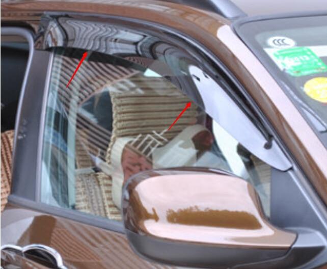 Car Window Visor Vent Shade Rain/Sun/Wind Guard For BMW X3 F25 2011-2015 4pcs set smoke sun rain visor vent window deflector shield guard shade for hyundai tucson 2016