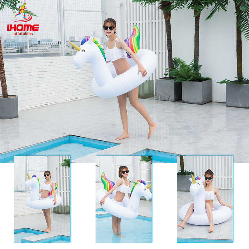 2019 Swimming Ring Inflatable Summer Unicorn Swimming Circle for Adult Pool Float Water Sports Fun Pool Dropshipping