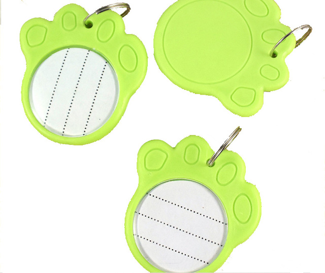 US $2 54 |5 Pieces Dog Cat Pet Safety Anti Lost Luminous Collar ID Tag  Plastic Write Glow Name Neck-in Dog Accessories from Home & Garden on