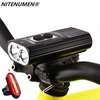 NITENUMEN X8 XM L2 LED Bike Cycling Bicycle Waterpoof Front Light & Tail Light(Built in Battery)