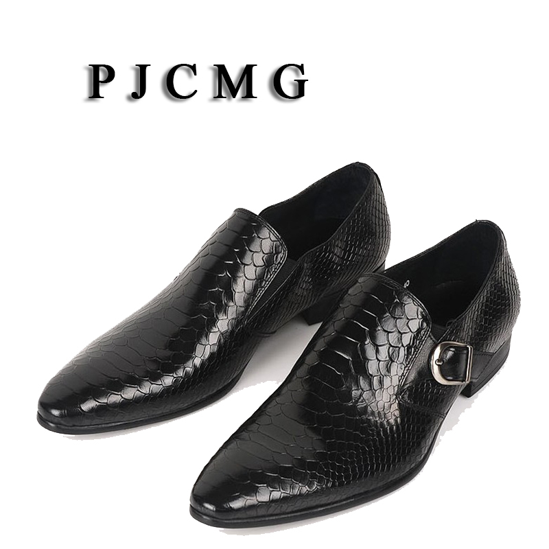 PJCMG Hot Sale New Snakeskin Pattern Men Oxford Business Dress Party Wedding Pointed Toe Slip-On Office Career Mens ShoesPJCMG Hot Sale New Snakeskin Pattern Men Oxford Business Dress Party Wedding Pointed Toe Slip-On Office Career Mens Shoes