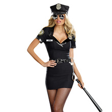 Sexy Ladies' Cosplay Police Costume Women Adult Sex Police Costume Halloween Outfit Dress Carnival Police Uniform