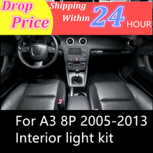 цена на shinman 12pcs Error Free car LED Interior Light Kit Package for AUDI A3 8P accessories 2005-2013 interior light freeshipping