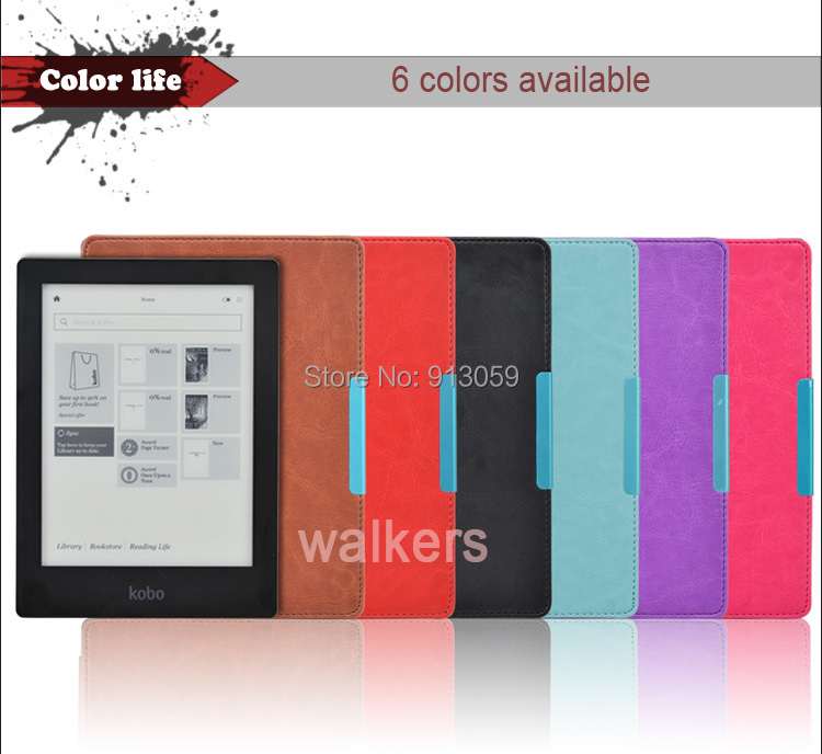 New Style  Leather Pouch   for Kobo Aura HD Ereader E-book Cover Skin  Free Shipping 1pcs+stylus as gift original new lcd screen ed068tg1 for kobo aura h2o kobo aura h20 with backlight reader e book lcd displayl free shipping
