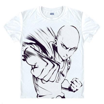 New Fashion ONE PUNCH MAN Shirt Hoodies Anime ONE-PUNCH Man T Shirt 3D Cartoon men T-shirt Genos Saitama Cosplay summer tshirts