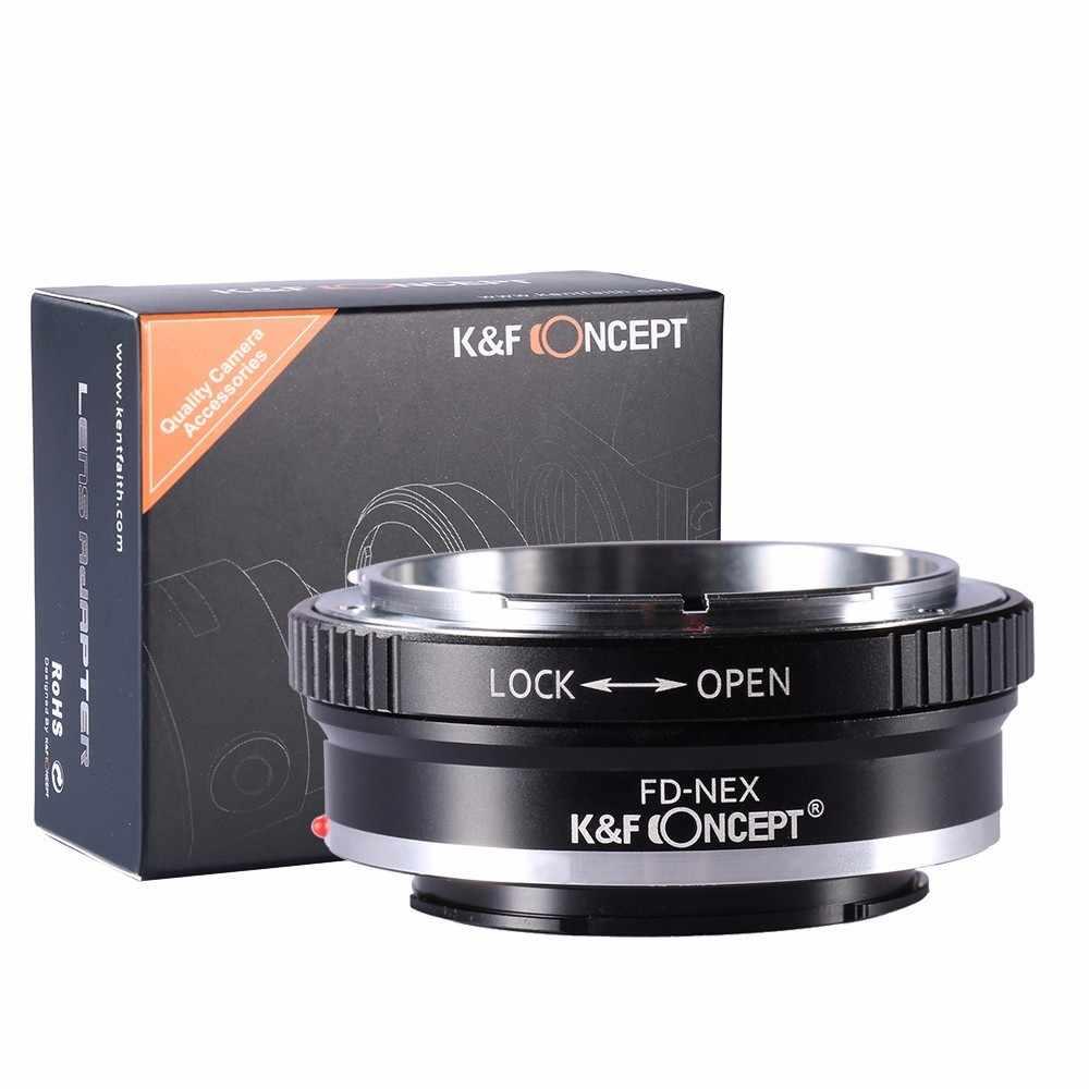 K & F קונספט FD-NEX עדשת מתאם טבעת עבור FD הר עדשה כדי Sony NEX-3 NEX-5 NEX-VG10 מצלמה NEX הר