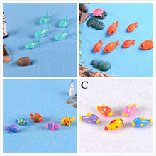 Red Fish Miniature Figures Decorative Mini Fairy Garden Animals Moss Micro Landscape Ornaments Resin Baby Toy(China)