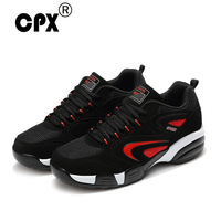 CPX Warm Leather Medium Cut Running Shoes Men Women Winter Thermal Sport Shoes Black Fur Trainers