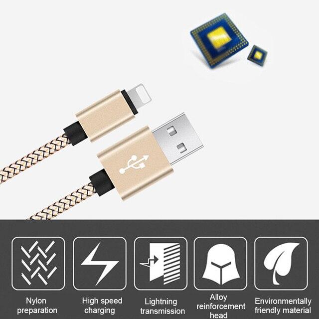 Câble USB pour câble déclairage pour chargeur iphone xs max 6s Plus câble de téléphone pour iPhone X 7 8 plus 5se Sync chargeur rapide