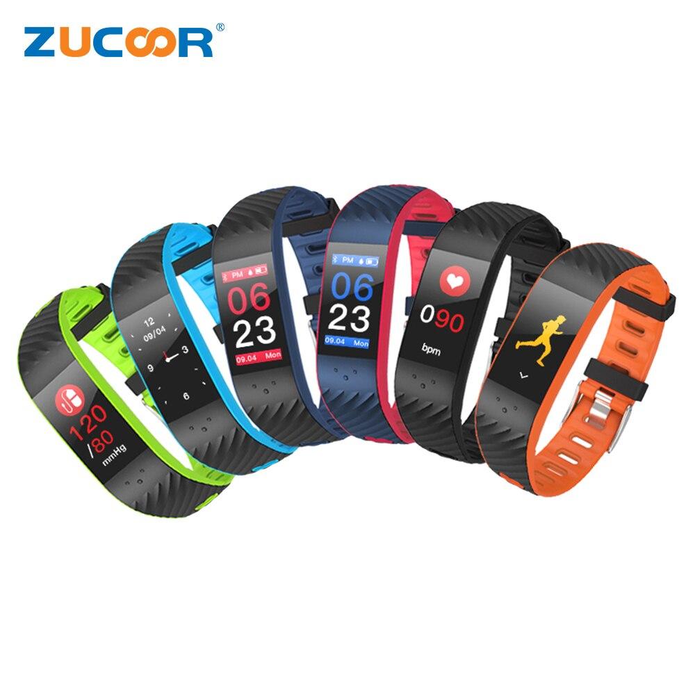 ZUCOOR Smart Bracelet Bracelet Tonomètre Moniteur de Fréquence Cardiaque RB78 Pression Mètre Bluetooth Remise En Forme Podomètre Intelligent Sport Bracelet