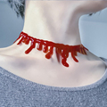 JOY MAGS Helloween Decoration Pretend Play Cosplay Toy Vampire Blood Necklace