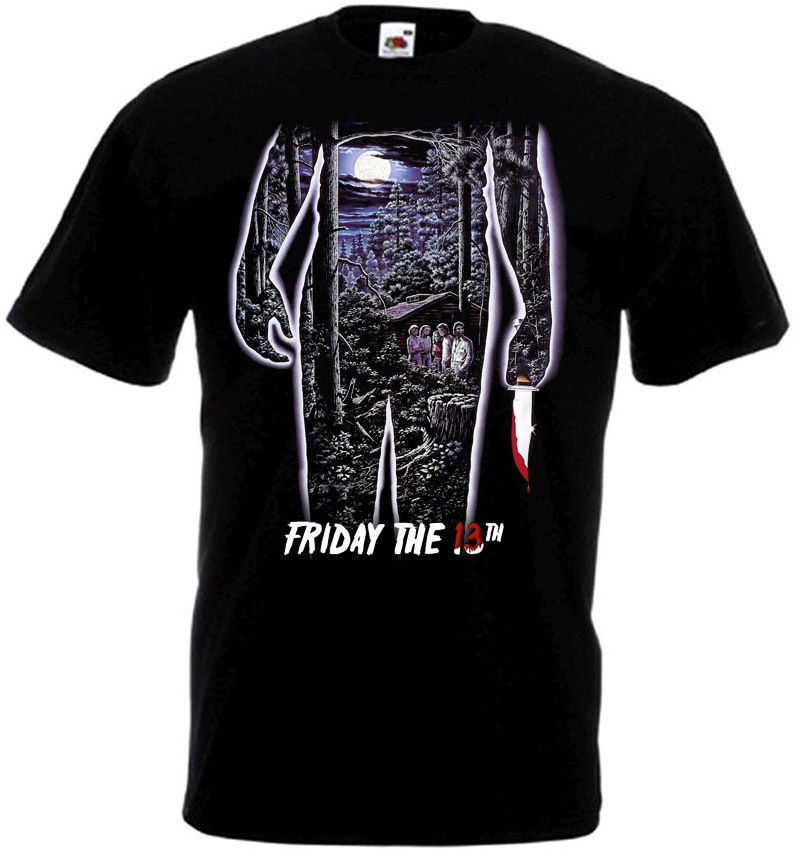 Friday The 13 v35 T-Shirt all sizes S-5XL BLACK