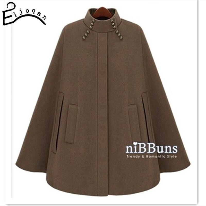 Cool street style cloak outerwear camel blue cloth