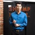 Мужская рубашка Цветочный печати с длинным рукавом рубашки мужская одежда цветы отпечатано рубашка Мужская Повседневная Рубашка