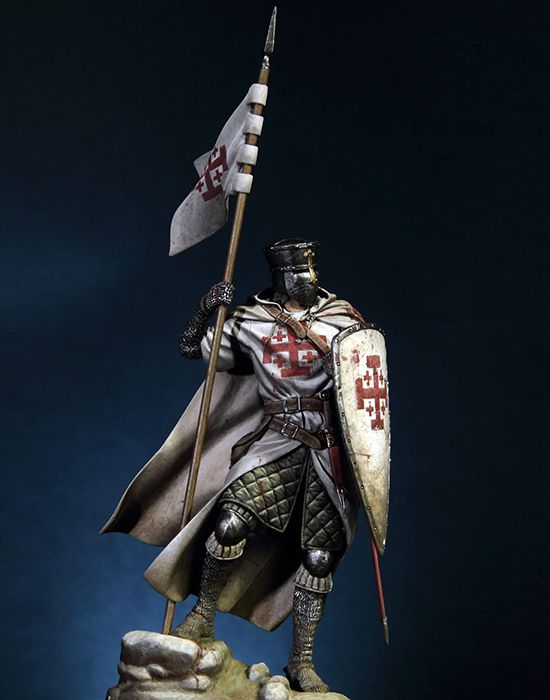 Assembly  Unpainted  Scale 1/18 90mm Knight Of The Holy Sepulcher --90mm  Figure Historical  Resin Model Miniature Kit