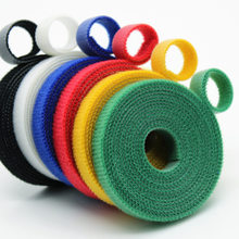 2yards/roll 10mm Cable tie Self Adhesive Fastener Tapes Tie Nylon Tape Diy Office accessories