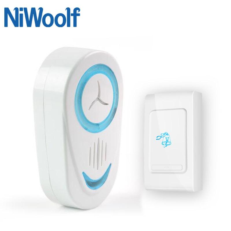 New Home Welcome Wireless Doorbell Loud Sound Intelligent Doorbell Waterproof Remote Smart Wireless Door Chime 36 Tones