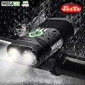 WOSAWE водонепроницаемый велосипедный фонарь 2400 люмен USB Перезаряжаемый велосипедный фонарь на руль фонарик батарея лампа задние фонари mtb Ве...