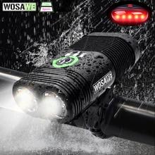 WOSAWE წყალგაუმტარი ველოსიპედის შუქის 2400Lumen USB დატენვის ველოსიპედის საჭე, ლამპარი, ფანარი, ნათურის ნათურის შუქნიშანი mtb ველოსიპედით