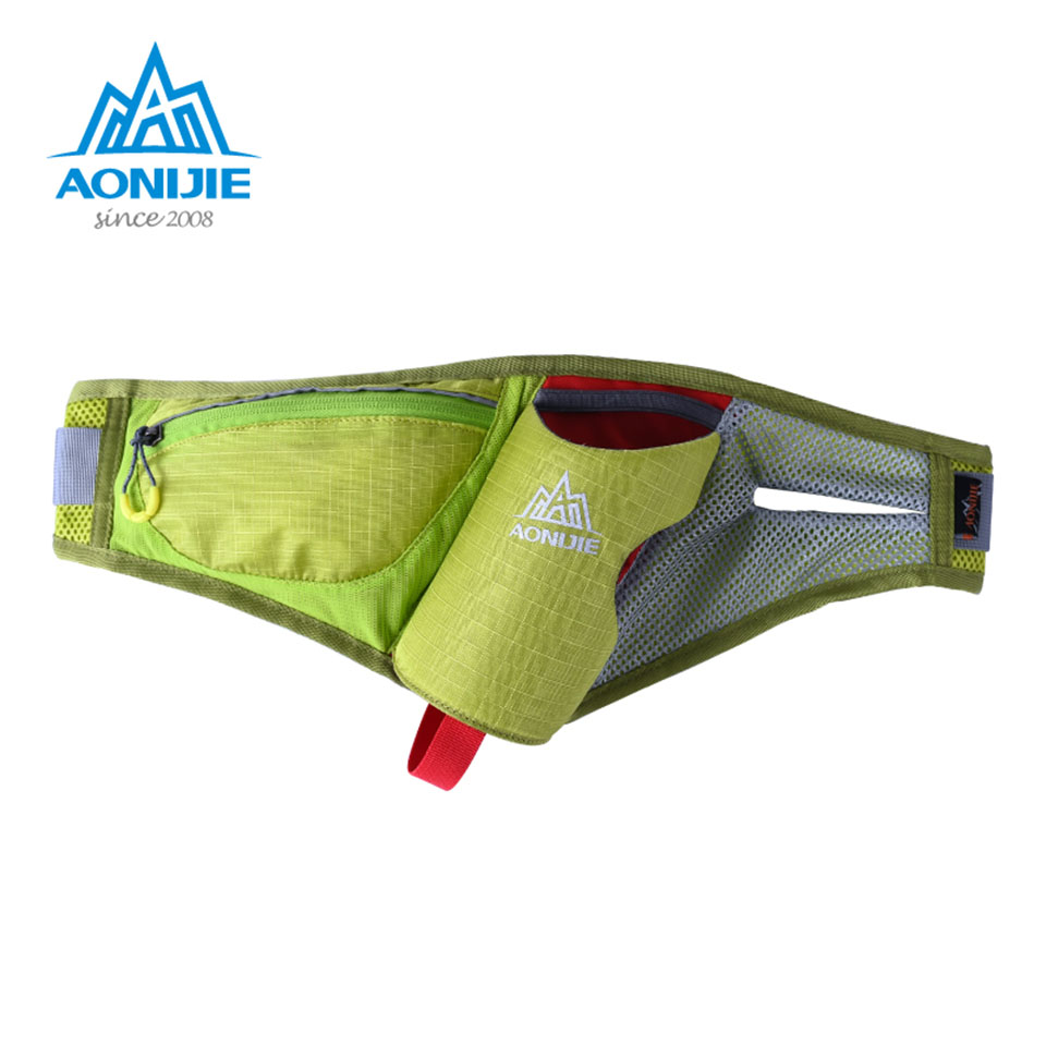 AONIJIE Running Belt Water Belt  With 600ml Bottle Sports Waist Packs Pack Marathon Hydration 4 Colors