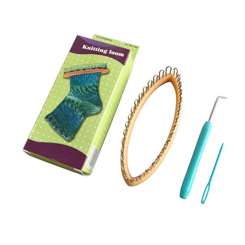 Peg Socks Wool Yarn Knitting Loom DIY Craft Wooden Weaving Tools For Sock Scarf Hat Weaver Needle Sewing Knitting Tool