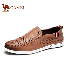 Camel carrefour shoes genuine leather breathable men's casual leather shoes spring male shoes A622266380