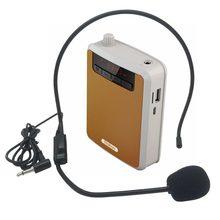 Rolton k300 메가폰 휴대용 음성 증폭기 허리 밴드 클립 지원 fm 라디오 tf mp3 스피커 전원 은행 투어 가이드, 교사