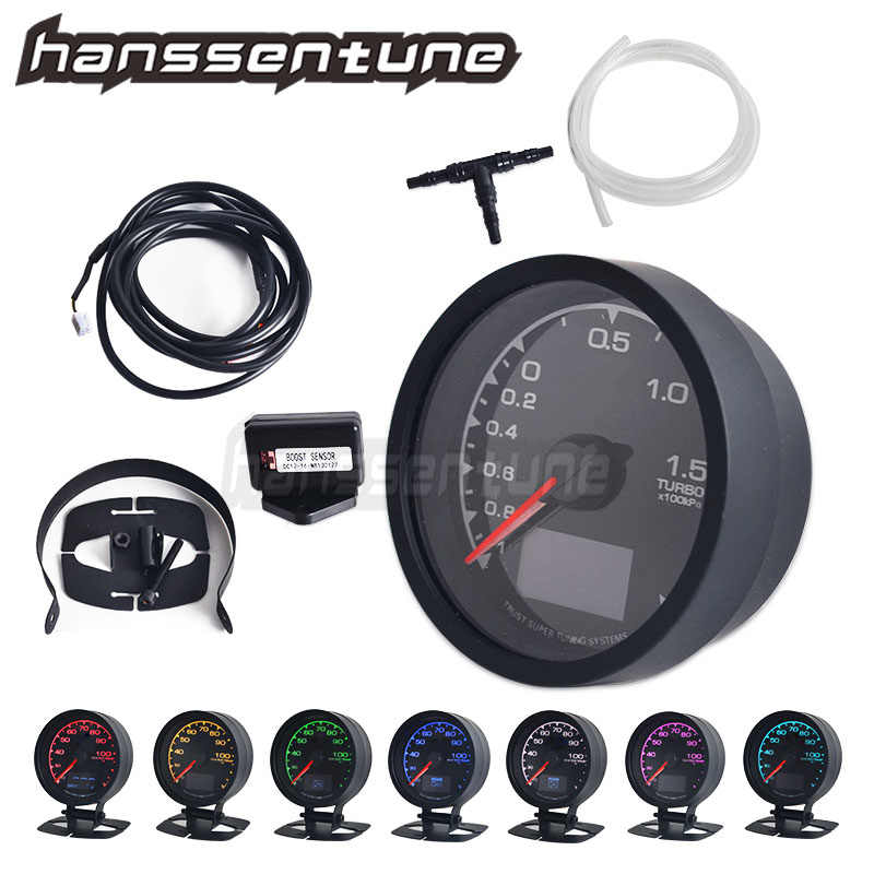 62 Mm 7 Warna Turbo Boost Pengukur D/LCD Digital Tampilan Mobil Gauge 2.5 Inch Balap Gauge