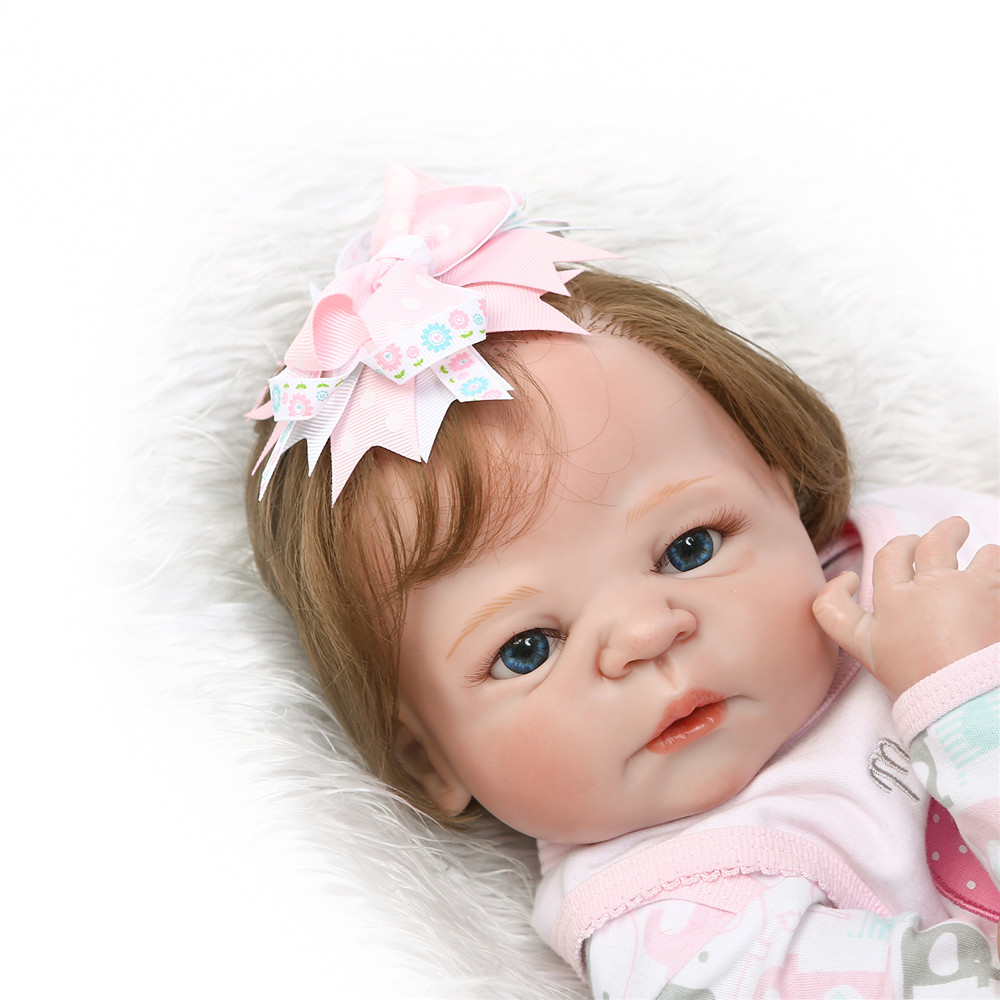 Bebe girl reborn dolls 2255cm NPK full silicone reborn baby dolls rooted new hair red skin real born bonecas kids gift toyBebe girl reborn dolls 2255cm NPK full silicone reborn baby dolls rooted new hair red skin real born bonecas kids gift toy