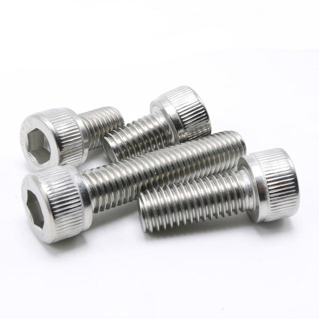 304 Stainless Allen Bolt Socket Cap Screw Hex Head Allen Key A2  DIN912 M4*5/6/8/10/12....80