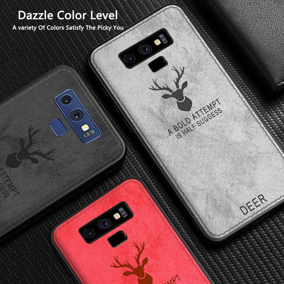 Phone Cover For Samsung S10 Plus Case Cloth Deer Soft Case For Smasung Galaxy Note 9 S9 Case Coque For Samsung Galaxy S10 Plus