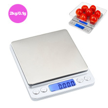 Memokey 2000g/0.1g Digital kitchen Scales Portable Electronic Pocket LCD Precision Jewelry Scale Weight Balance Cuisine C