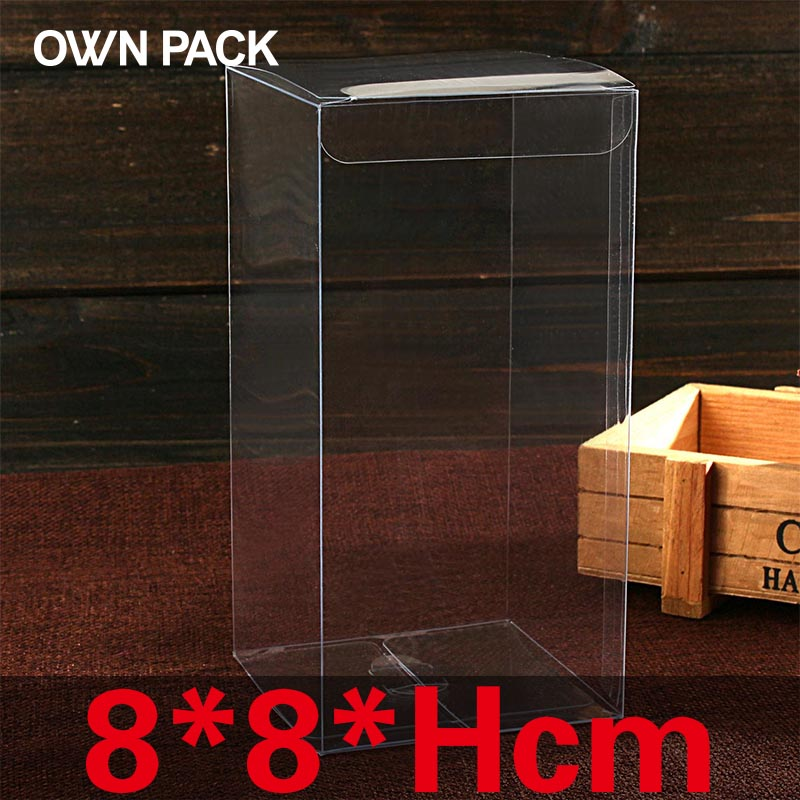 10 pcs/lot 8*8*Hcm packaging boxes / plastic container / retail / chocolate box / candy box / gift package / PVC boxes / custom