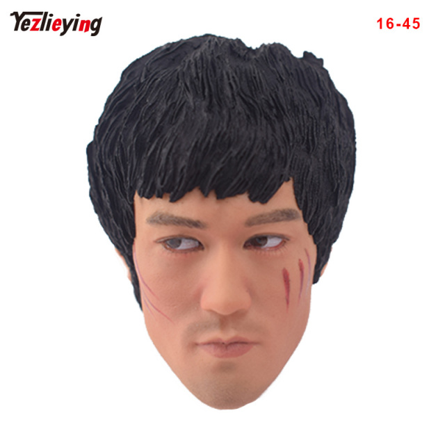 f53a2394423 TopToys 1 6 Scale Head Sculpt KUMIK 16-45 Asian Kung Fu star Bruce Lee w  wounded Male Fit 12 Inch Phicen hot toys for children