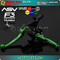 Verde alumínio série F3 ª embreagem e alavanca de freio ASV modificar peças da motocicleta da bicicleta da sujeira offroad KX KXF KLX