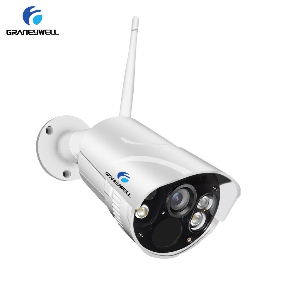 Graneywell Wifi Câmera IP 1080 p Cor Inteligente de Visão Noturna Bala de Segurança À Prova de Intempéries Indoor Ao Ar Livre Sem Fio Câmera IP Cartão TF