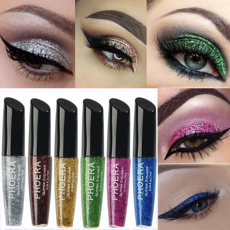 Eyeliner Pudaier Liquid Colored Eyeliner Eyes Makeup Oogpotlood Waterproof Liner Ojos White Blue Eye Liner For Festival Matte Eyeliner