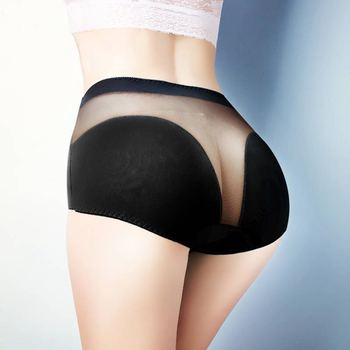 New style push up ladies cotton high waist hip-lift sexy panties high-elasticity plus size mesh lace triangular underwear women