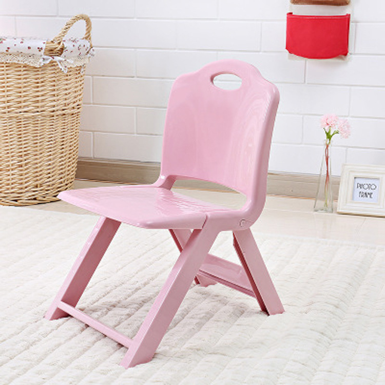 Thickened Plastic Folding Chair Portable Stool Portable Children's Chair Cute Kids Furniture Plastic