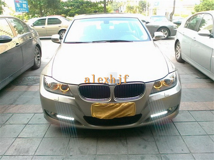 July King LED Daytime Running Lights DRL, LED Front Bumper Fog Lamp Case for BMW 3 series E90 LCI 316i 318i 320i 325i 328i 330i high quality light high power led daytime running lights for bmw e90 lci 3 series sedan 15w 2009 2012 freeshipping