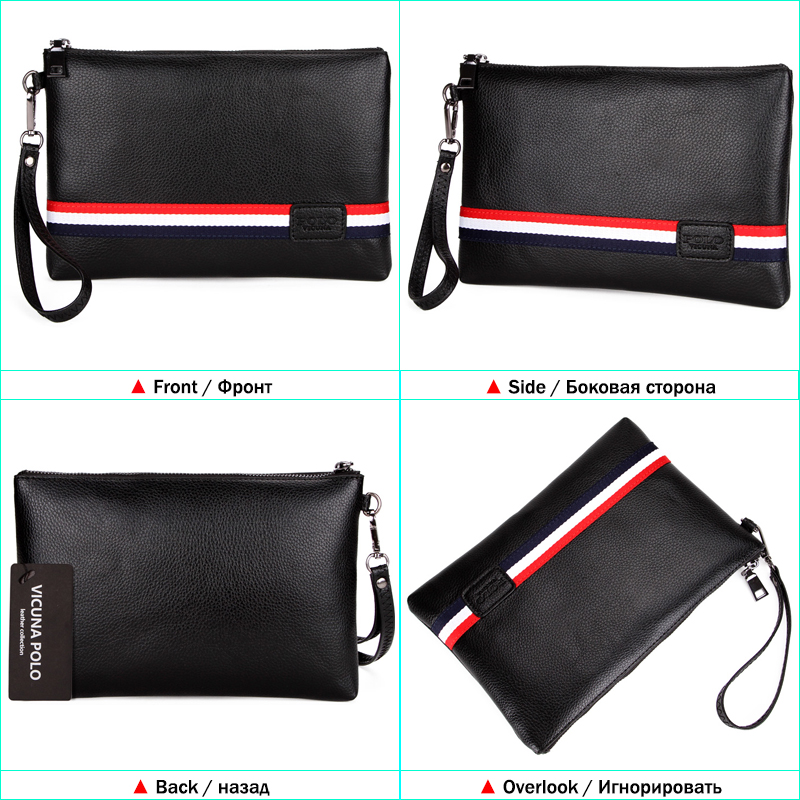 ea10195bdae3c VICUNA POLO Personalized Striped Mens Clutch High Quality PU Leather Men  Clutch Bags Brand Casual Large Capacity Male Wallets-in Wallets from  Luggage & Bags ...