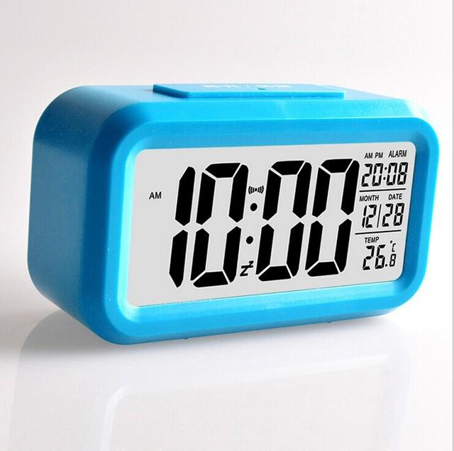 2017 Hot Selling Digital Temperature Display Alarm Clock Backlight Clock Digital LED Snooze Electronic Time Calendar Thermometer