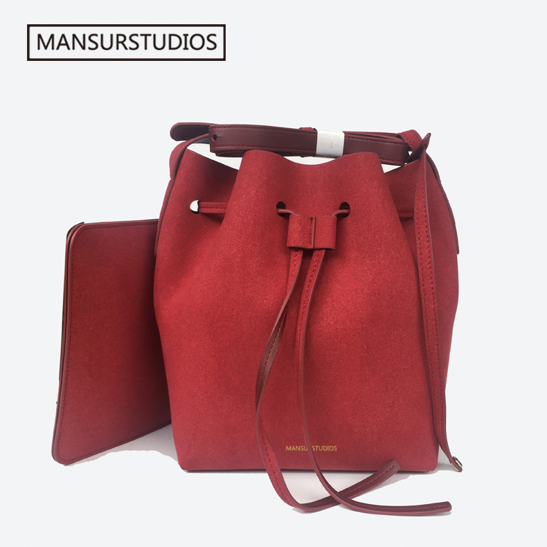 2019 MANSURSTUDIOS suede bucket bag mansur women faux suede shoulder bag gavriel lady  cross bag, free shipping2019 MANSURSTUDIOS suede bucket bag mansur women faux suede shoulder bag gavriel lady  cross bag, free shipping