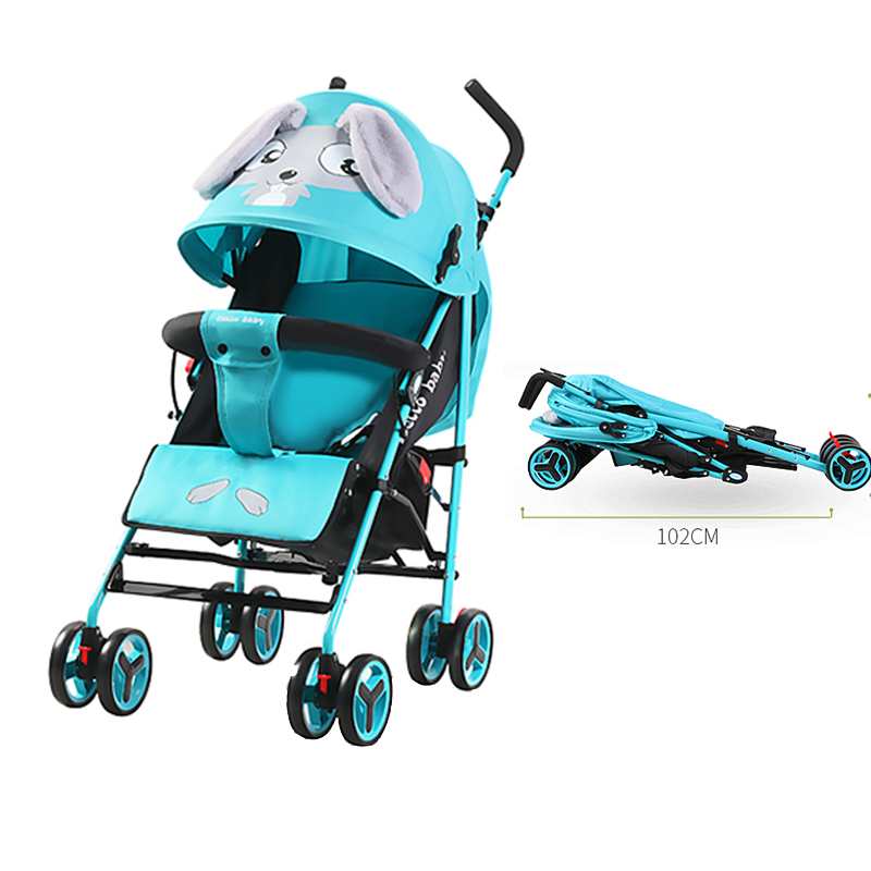 Lightn weight Baby Stroller Can Sit and Fold Children Small Portable Newborn Baby Hand Push Umbrella Simple Baby Carriage Pram