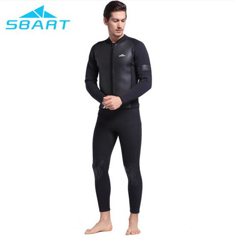 SBART Swimwear Men Diving Rash Guard 2MM Neoprene Wetsuit Snorkeling Wetsuit Windsurfing Kite Surfing Jacket Diving Equipment sbart upf50 rashguard 2 bodyboard 1006