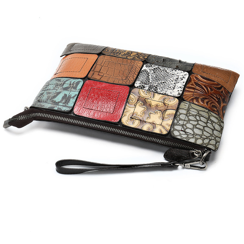 PNDME retro designer handmade stitched genuine leather ladies shoulder bag casual daily female multi color women 39 s messenger bag in Shoulder Bags from Luggage amp Bags