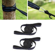 Outdoor Hängematte Seil Doppel Schleife Baum Gürtel Einstellbaren Hängematte Seil Baum Riemen Hängenden Camping Werkzeug Gürtel