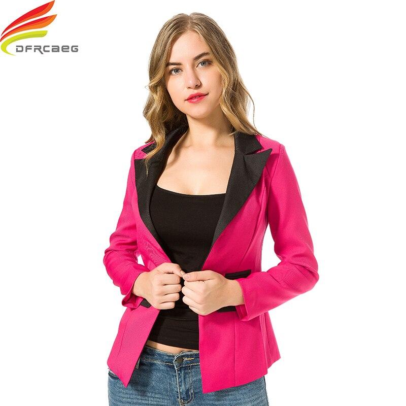 Fashion Patchwork Blazer Women 2018 New Arrival Casual Slim Long Sleeve Single Button Ladies Office Wear Blazer Feminino Jackect