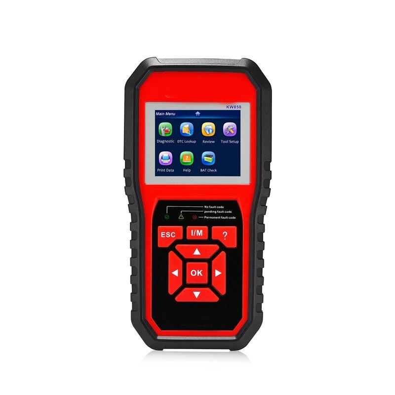 Offre spéciale voiture KW850 Autoscanner OBD2 Scanner de défaut automobile multi-langues Scanner de Diagnostic automatique AL519 NT301 OBD2 Scanner